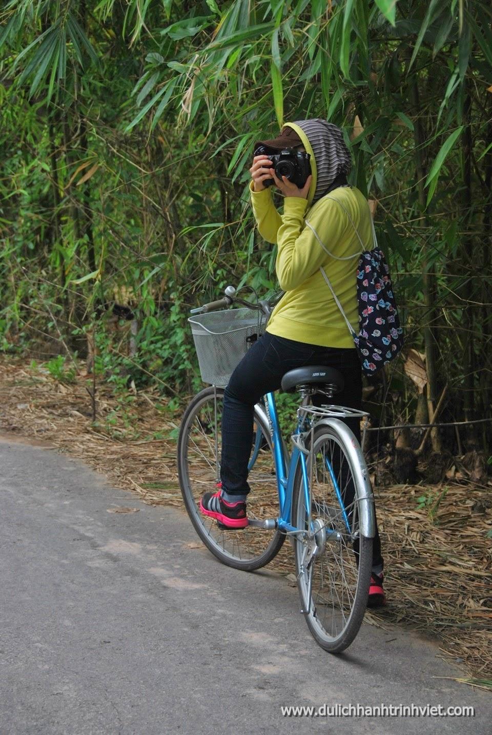 Đạp xe tham quan Cù lao Ông Hổ ở Long Xuyên