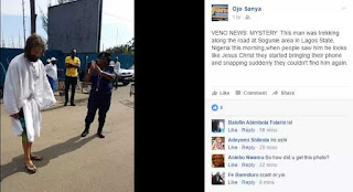 Jesus Christ' Allegedly Disappears While Walking on the Streets of Lagos