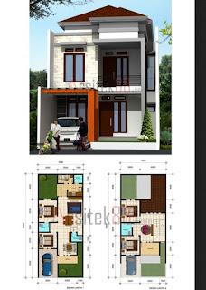 rumah 2 lantai di lahan yang sempit referensi rumah