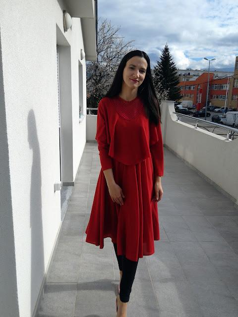#modaodaradosti #redvintagedress #vintage #fashionblogger