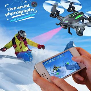 Drone Con Cámara 2MP FPV Air-Ground RC Quadcopter Por Tierra & Aire Doble Modo Drone Coche Teledirigido  fpv
