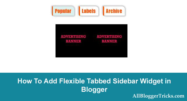 How to Add a WP Style Flexible Tabbed Sidebar Widget in Blogger