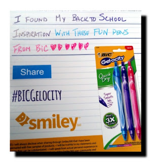 bic gelocity pens giveaway share button
