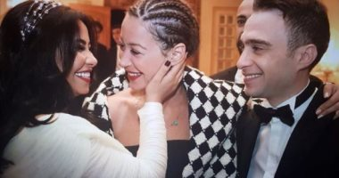 منة شلبي تحتفل بحفل زواج شرين عبد الوهاب وحسام حبيب