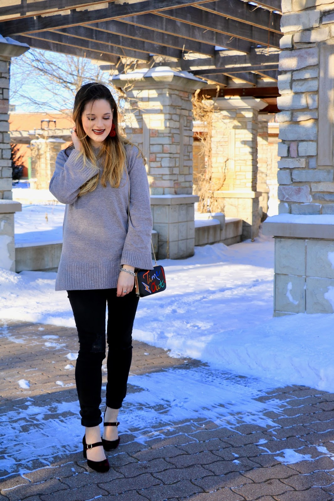 Nyc fashion blogger Kathleen Harper wearing a winter, cold-weather outfit