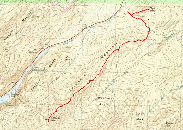 Mt Cascade Mt Porter NY Adk46 Hiking Conditions on