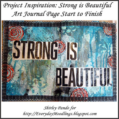 Strong is Beautiful art journal start to finish