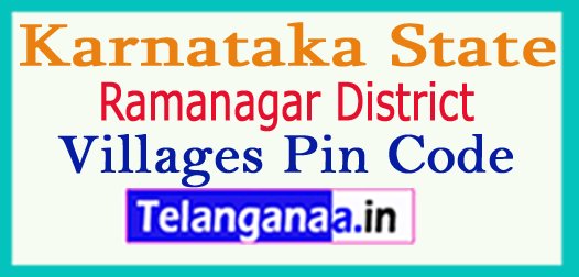 Ramanagar District Pin Codes in Karnataka State