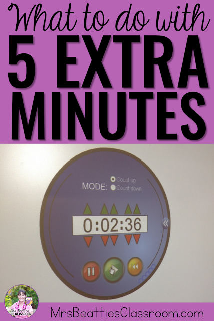 Wondering what your students could do when you have 5 extra minutes in the classroom? Don't waste it! Check out these great time-filler ideas for how you can make the most of your school day and fill those spare moments!