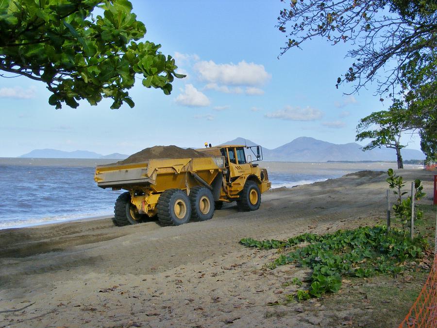 repairing beach erosion