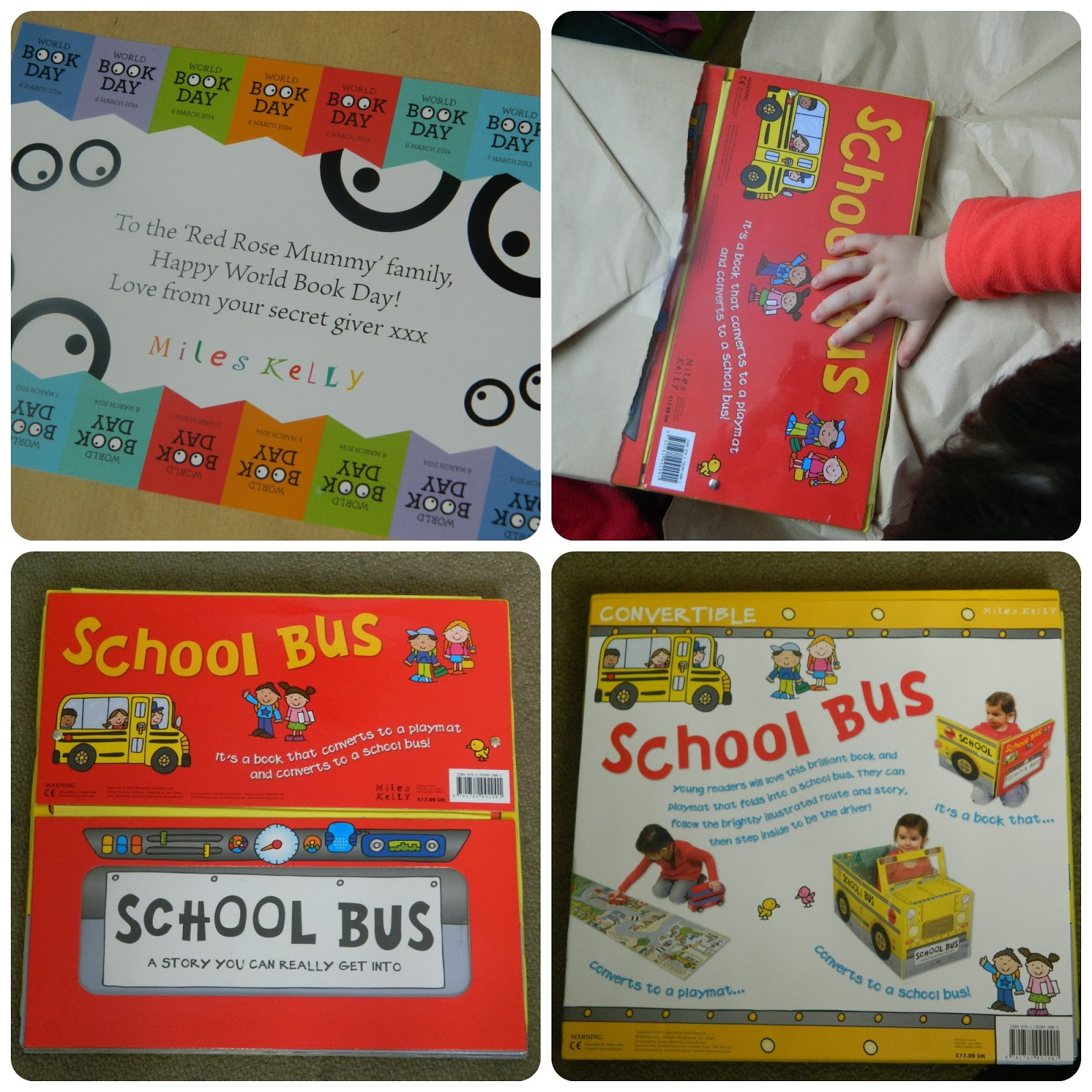 Miles Kelly Secret World Book Day Parcel School Bus