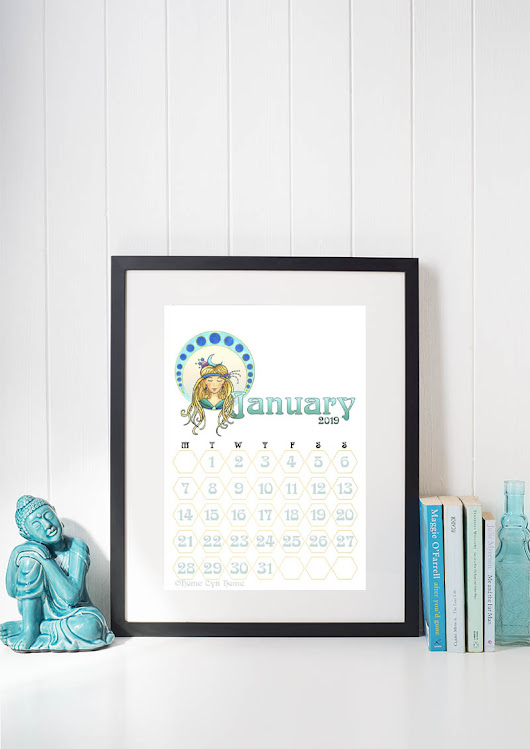 The 2019 Printable Calendar is here! - Home Cyn Home