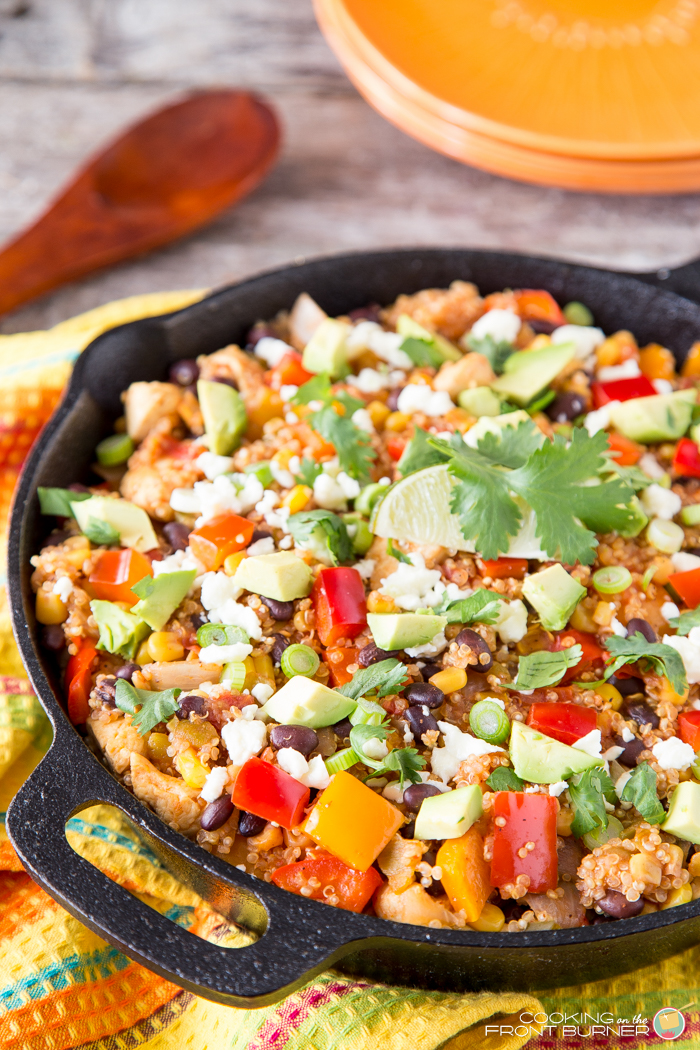 Mexican Quinoa Skillet Dinner | Cooking on the Front Burner