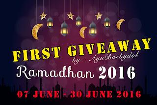 FIRST GIVEAWAY RAMADHAN 2016 BY AYU BARBYDOL