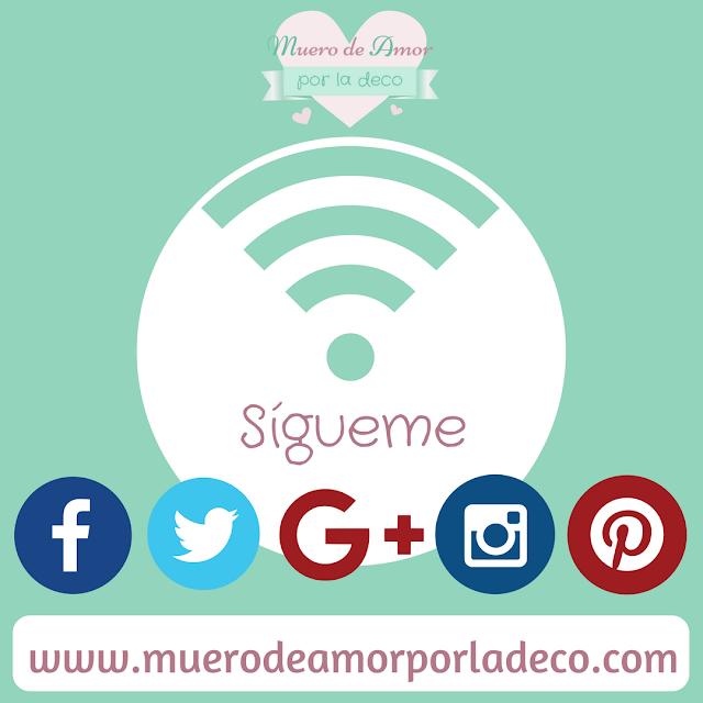 Redes Sociales del Blog de Decoración - Muero de Amor por la Deco