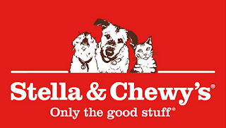 Red logo for Stella & Chewy's with dogs and a cat