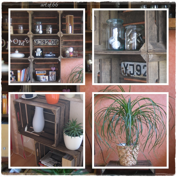 regal aus alten obstkisten. Black Bedroom Furniture Sets. Home Design Ideas