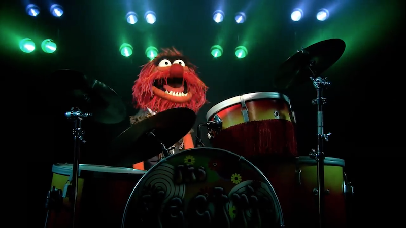 Animal of the Muppets at drum kit