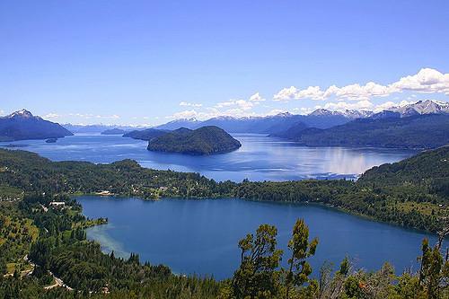 Pontos turísticos no Lago Nahuel Huapi em Bariloche