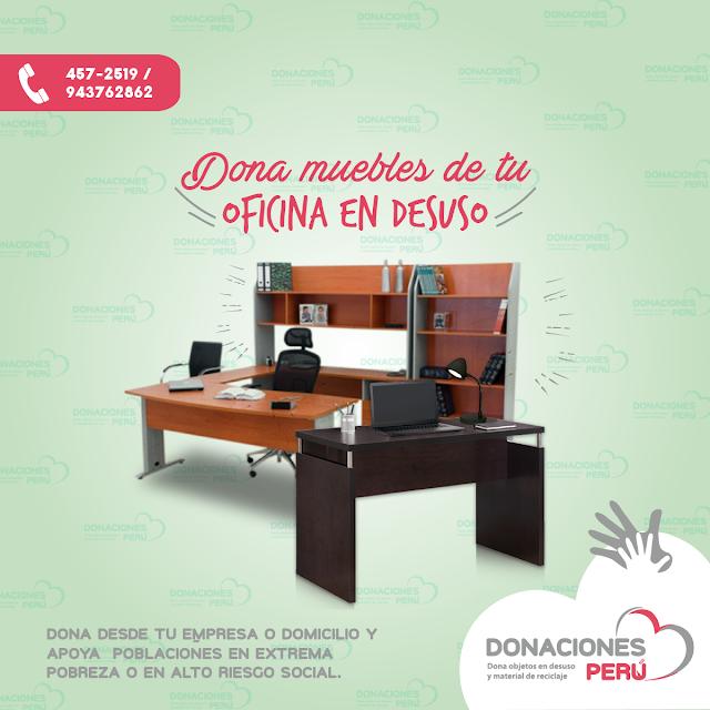 Dona muebles de oficina en desuso - Dona Perú