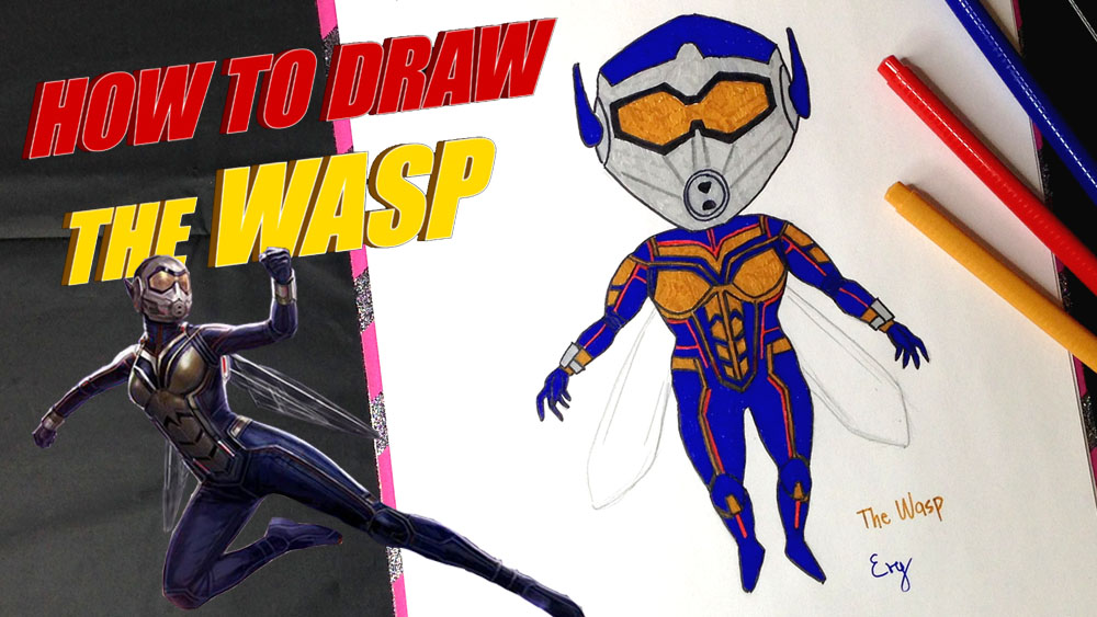 Le blog d'evy: HOW TO DRAW THE WASP! Marvel Studios' Ant ...