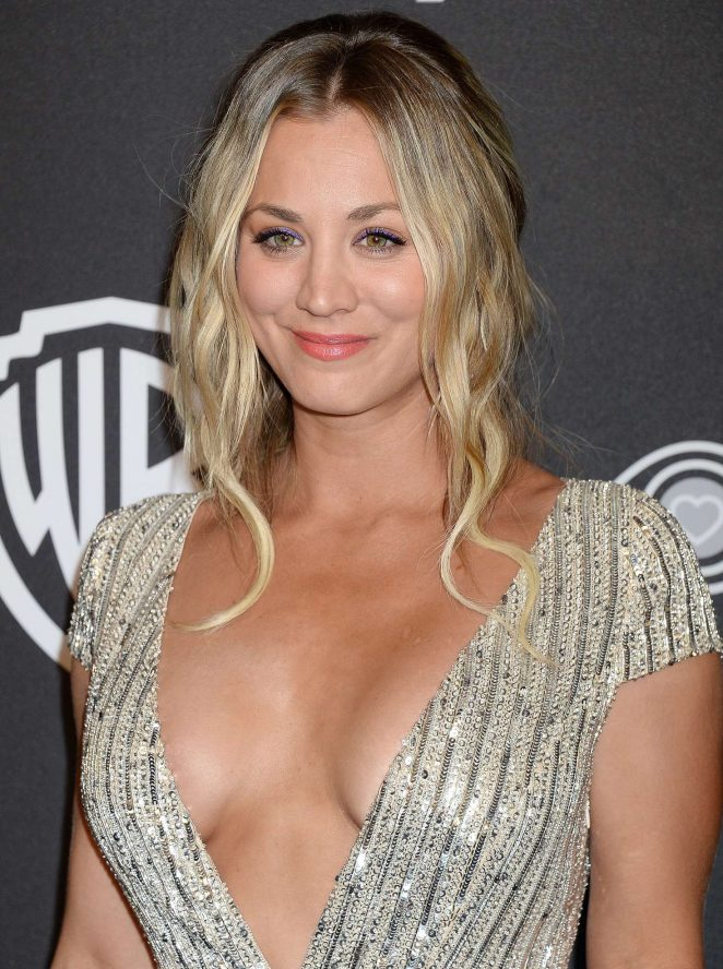 Kaley Cuoco – 2017 InStyle and Warner Bros Golden Globes After Party in LA