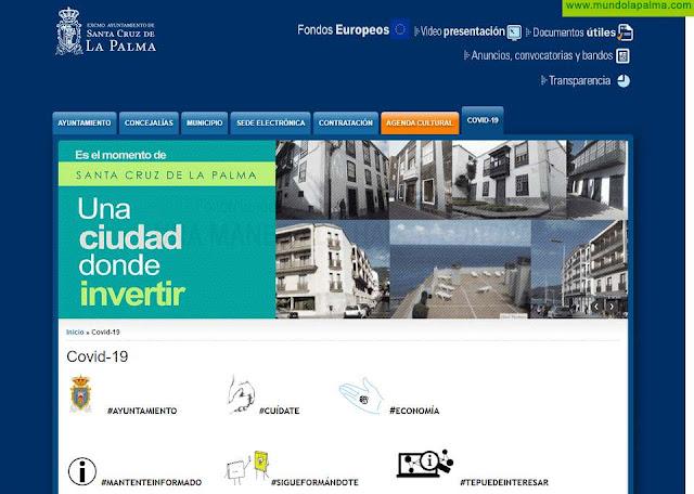 La ADL de Santa Cruz de La Palma habilita una sección 'Covid-19' en la web del ayuntamiento