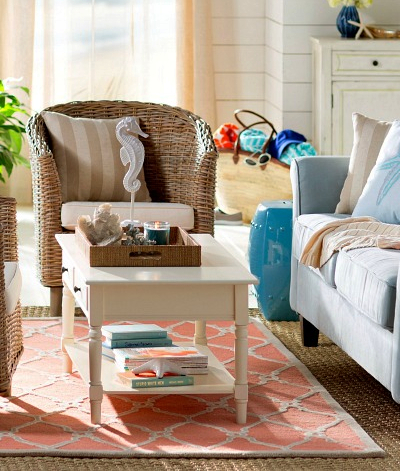 Wicker Chairs Decorating Ideas Coastal Living Accent Chair