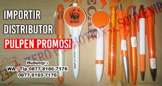 Distributor Ballpoint, pen, pulpen Promosi dengan harga Grosir, Murah, Unik serta variasi warna.