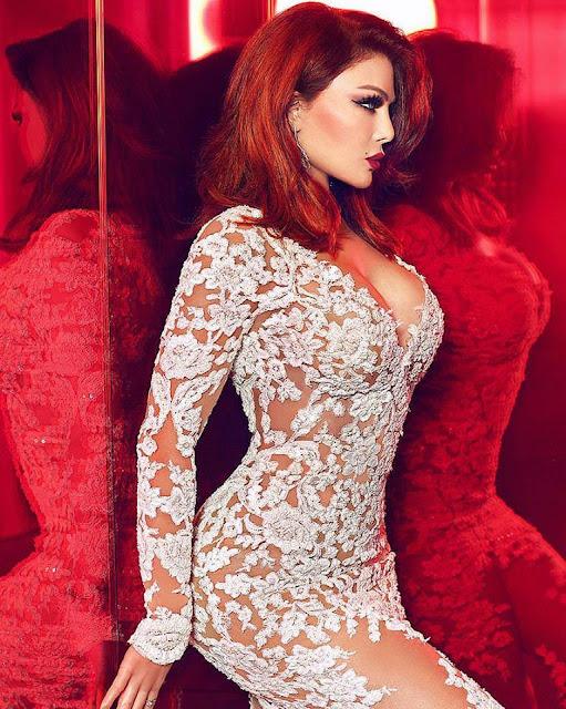 Haifa Wehbe en mini-robe pétillante signée Zuhair Murad.