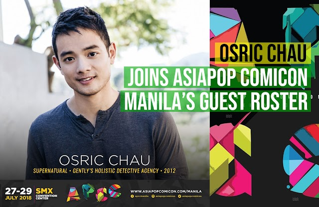 Osric Chau joins AsiaPOP Comicon Manila 2018's guest roster