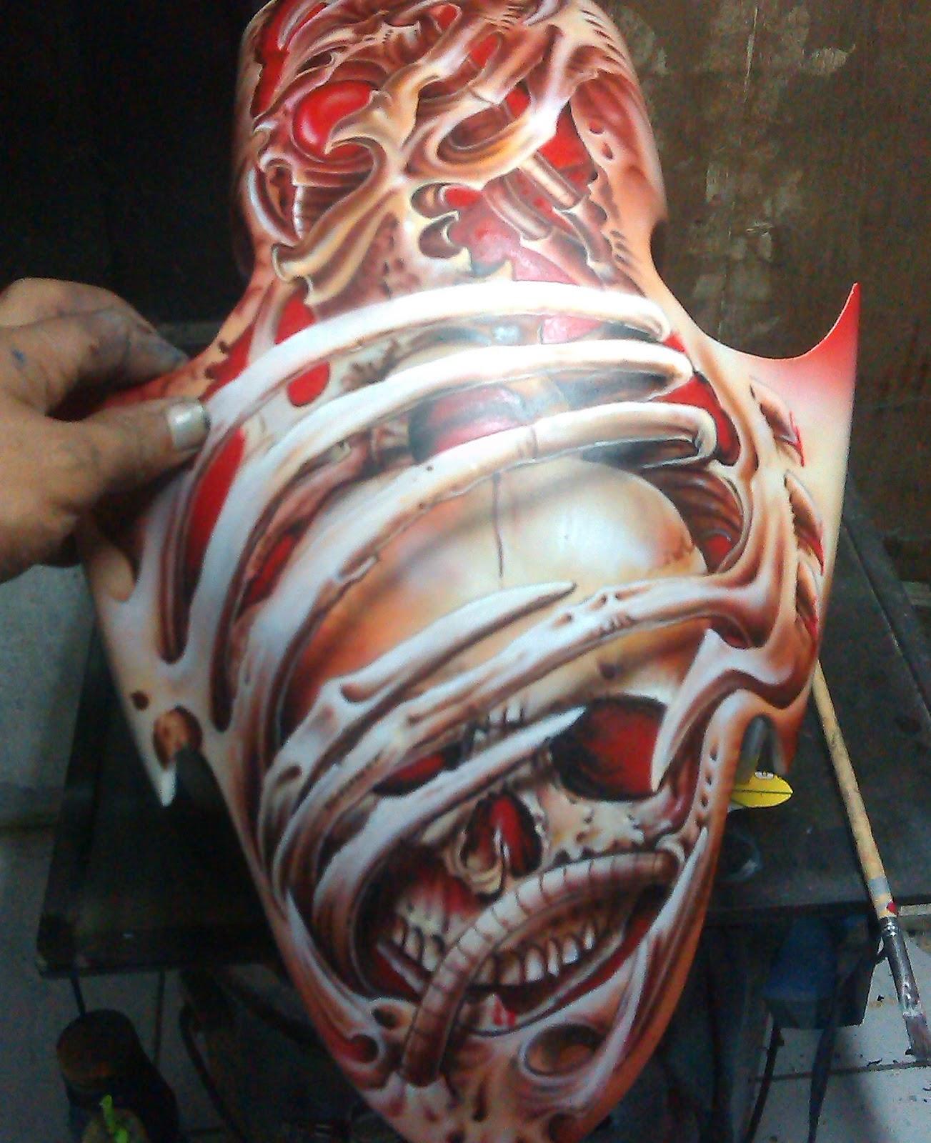 Airbrush Realis Skul Cileduk Tangsel