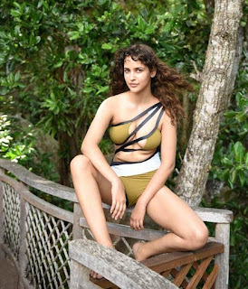 Aisha Sharma in a lovely One Piece Bikini Really Cute Beauty Aisha Sharma