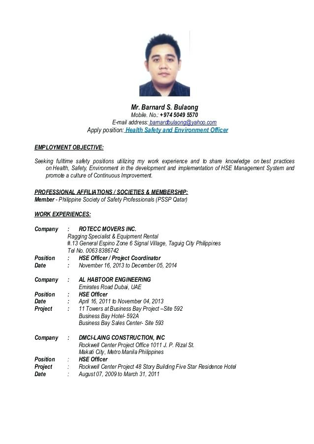 safety officer resume templates 2019