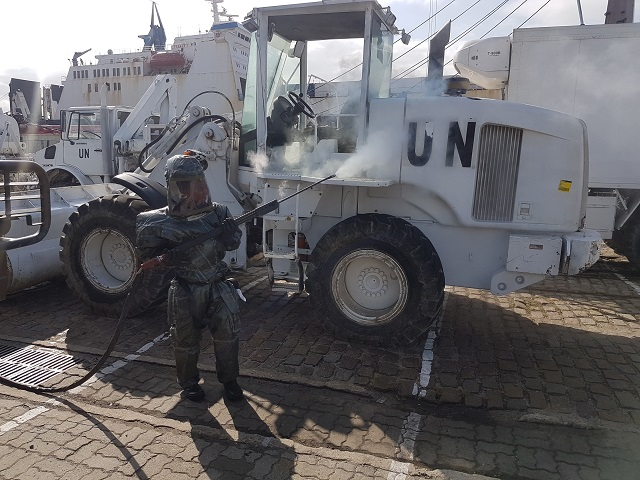 Materiais usados na Minustah retornam à Base de Apoio Logístico do Exército