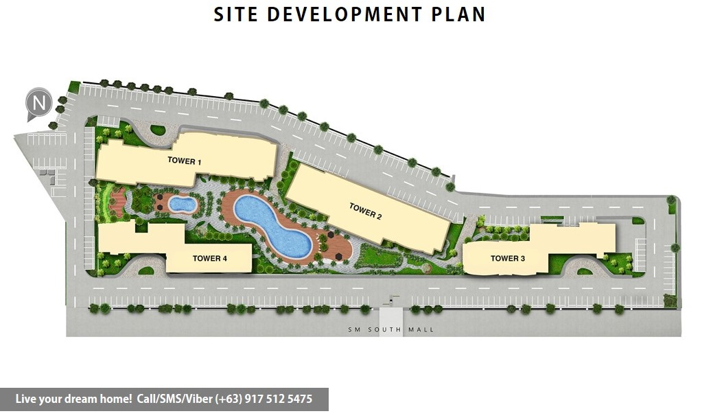 Site Development Plan | SMDC South Residences - 2 Bedroom End Unit With Balcony | Condominium for Sale SM Southmall Las Pinas