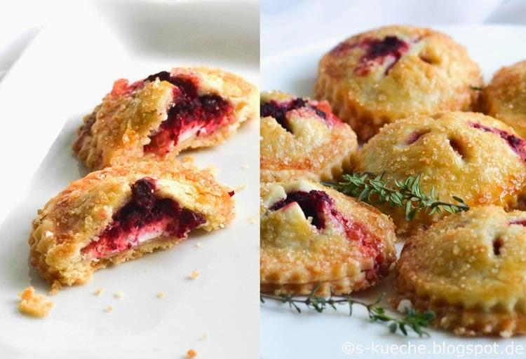 Hand Pies Cranberry Kompott oder Rote Bete mit Ziegenkäse