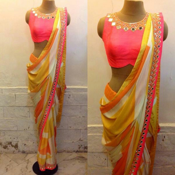 18 Latest Mirror Work Blouse Designs For Sarees This