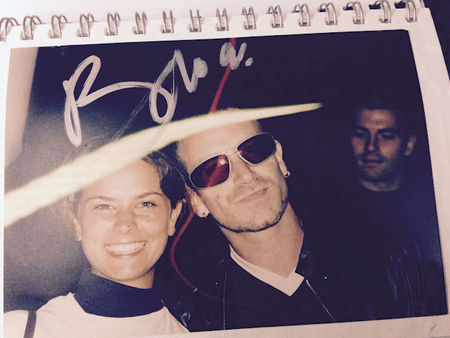 Bono and I with autograph