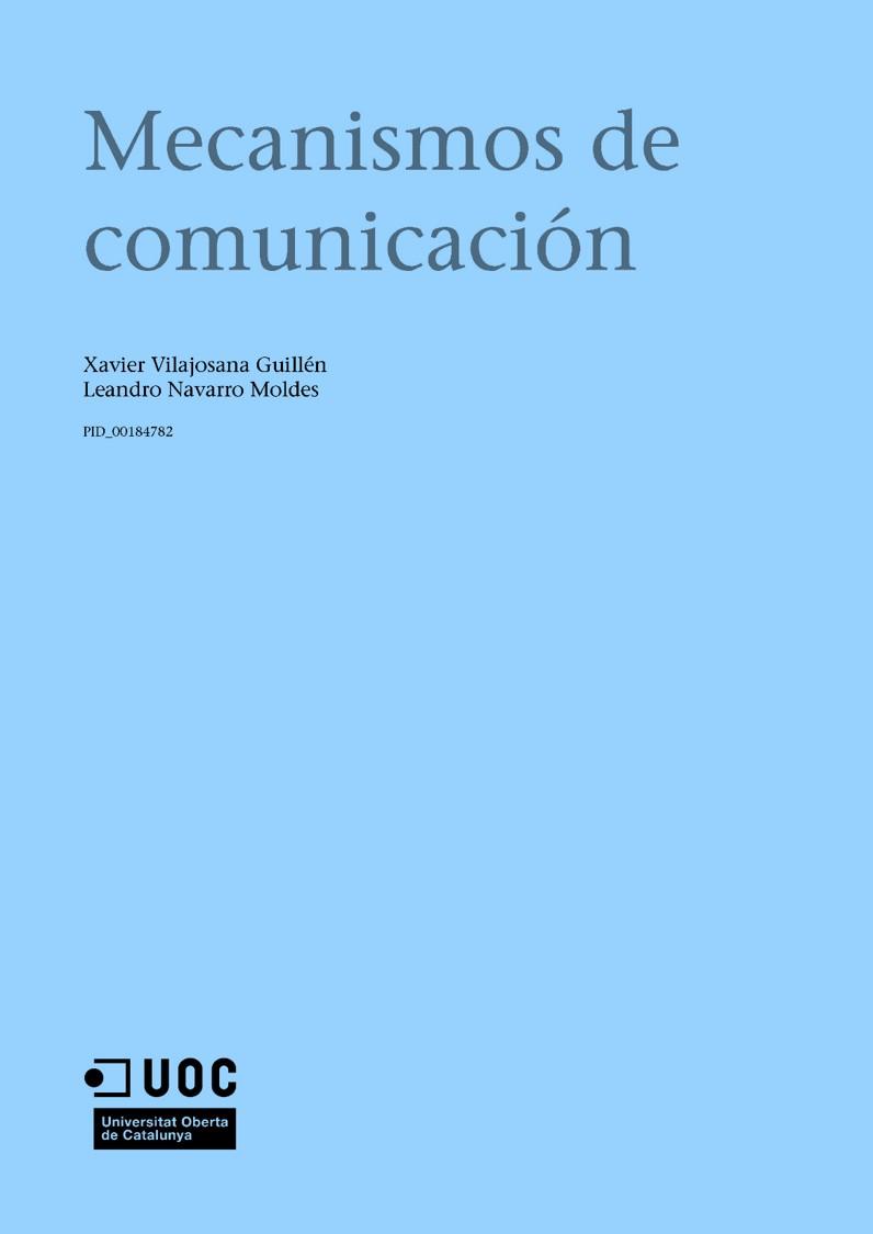 Mecanismos de comunicación – UOC