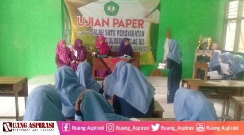 MA Nurul Huda Al-Banat Terapkan Ujian Paper