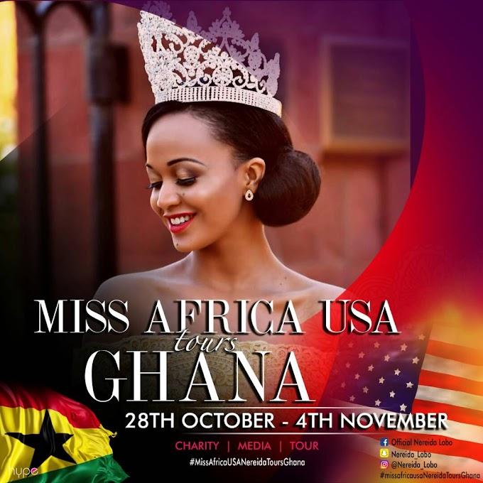 #MissAfricaUSA Nereida Labo Tours Ghana on 28th October - 4th Novenber