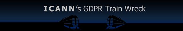 graphic: ICANN's GDPR Train Wreck ©2018 DomainMondo.com
