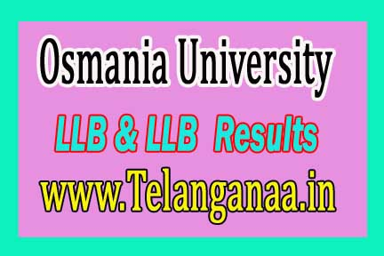 Osmania University OU LLB & LLB (Hons) Exam Results 2016
