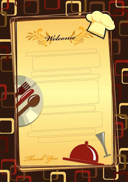 plantilla para menú de restaurante de una sola pagina