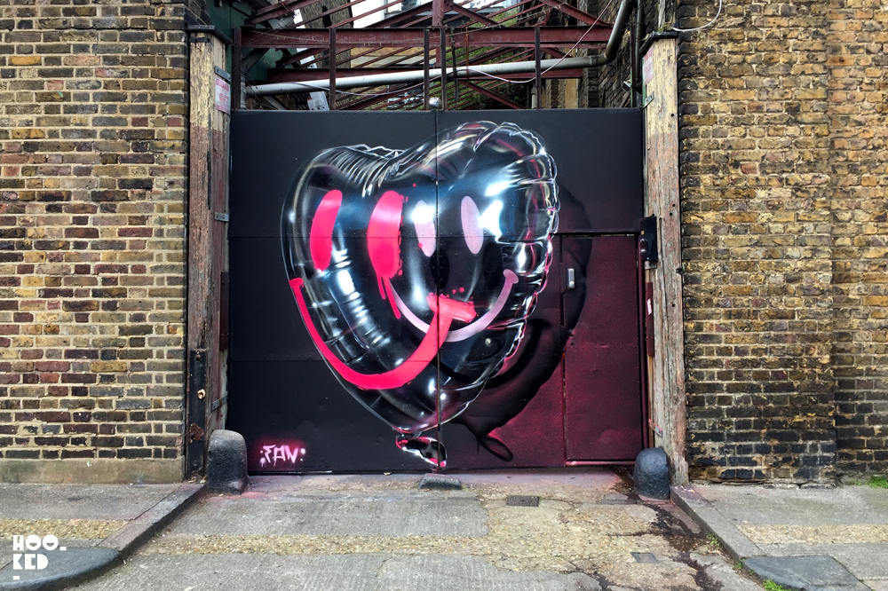 Fanakapan debrand/ rebrand Mural in London, UK. Photo ©Hookedblog / Mark Rigney