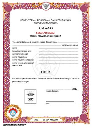 Download Juknis Pengisian Blangko Ijazah Pendidikan Dasar dan Menengah (SD/MI, SMP/MTs, SMA/SMK/MK paket A, B, C).