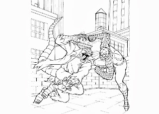 Spiderman fight coloring pages | Free Coloring Pages and ...