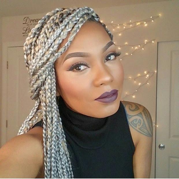 braids in silver shades