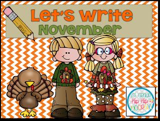 1st Grade Hip Hip Hooray!: Let's Write...November
